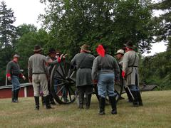 confederate artillery - stock photo