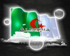 Flag Algeria quality designer flag - stock illustration