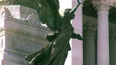 National Monument to Victor Emmanuel II,in Rome, Italy, - stock footage