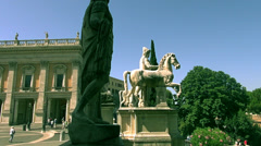 The Capitoline Hill, is one of the seven hills of Rome. Stock Footage