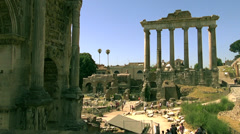 Stock Video Footage of The Roman Forum is a rectangular forum surrounded by the ruins