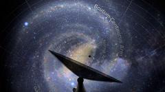 Satellite Dish Searching - stock footage