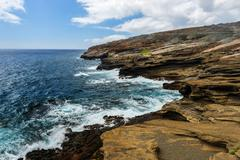 Tropical view, lanai lookout, hawaii Stock Photos