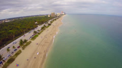 Aerial footage of Fort Lauderdale Beach Stock Footage