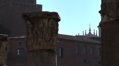 The ruins of several important ancient government buildings in Rome - stock footage