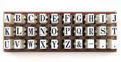 Font stamper Stock Photos