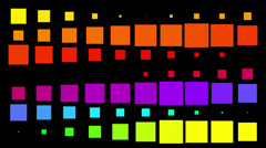 Crazy Colorful Abstract Flashing Blocks - stock footage