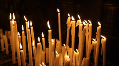 Candles with flames - stock footage