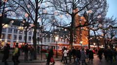 Streets and squares in Maastricht, Netherlands Stock Footage