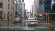 Stock Video Footage of Driving POV heavy rain, city CBD
