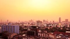 Sunset View City Stock Photos