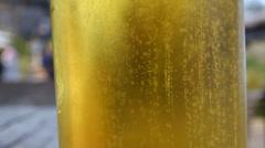 Glasses of beer Stock Footage