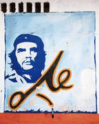 El che portrait on a wall Stock Photos