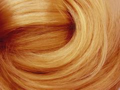sniny dark hair texture background - stock photo