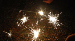 Play holiday fireworks happy new year 2014 Stock Footage