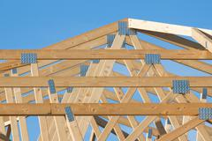 New residential construction home framing Stock Photos