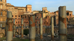 Stock Video Footage of Ancient columns in Historical Rome