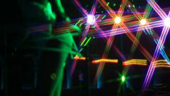 Montage of a dance club party Stock Footage