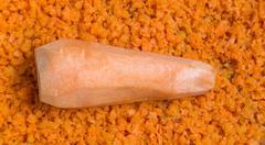 finely chopped carrots - stock photo