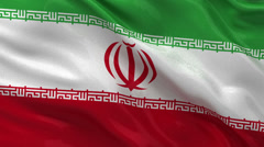 Flag of Iran seamless loop Stock Footage