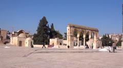 Mount Al - Aqsa Mosque - Dome of the rock jerusalem Stock Footage