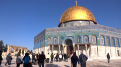 Mount Al - Aqsa Mosque - Dome of the rock jerusalem - stock footage