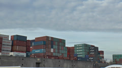 Port of Hamburg -Tracking shot to container 1 Stock Footage