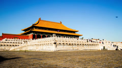 The splendid Qianqing palace in Forbidden City, Beijing, China Stock Footage