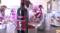 Wine tasting fundraiser Stock Footage
