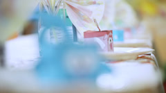 Hall decoration child party Stock Footage