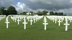 The Henri-Chapelle American Cemetery and Memorial in Belgium. Stock Footage