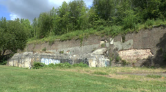 The walls of the Citadel of Liège, Wallonia, Belgium. Stock Footage
