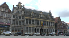 La Halle aux Draps (Cloth Hall) in Tournai, Wallonia, Hainaut, Belgium. Stock Footage