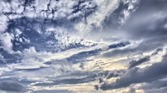 Clouds HDR Timelapse Stock Footage