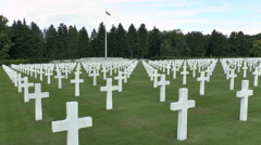 The Ardennes American Cemetery and Memorial near Liege, Belgium. Stock Footage