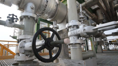 Industrial refinery plant - stock footage