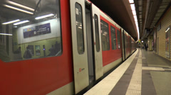Hamburg subway - Sequence 4 Stock Footage