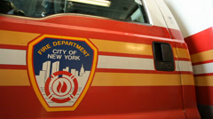 Fire Department New York Ambulance Stock Footage
