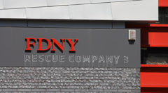 Exterior view of New York Fire Department Stock Footage