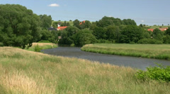 Mulde River near Rochlitz - Saxony, Germany Stock Footage
