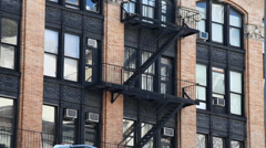 High Rise Apartments in New York - stock footage