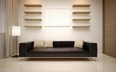 Stock Illustration of interior Design. Modern living room
