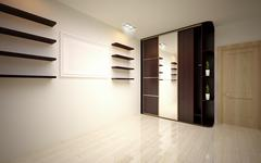 Stock Illustration of interior Design. Modern empty living room