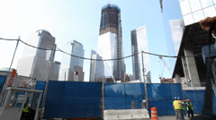 Twin Tower under construction Stock Footage