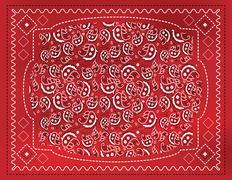 red paisley handkerchief - stock illustration