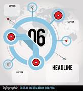 global infographic - stock illustration
