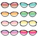 Stock Illustration of colorful set of sunglasses