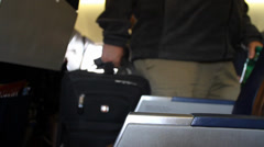 Airline Passengers - stock footage