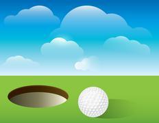 Golf background putting green Stock Illustration