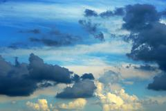 Horizontal nature image of a dramatic cloudy sky Stock Photos